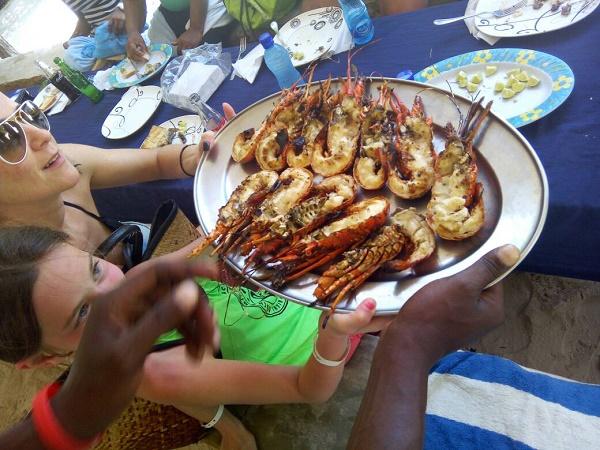 Cosa si mangia in Kenya? Pesce e crostacei sulla costa sono un must.