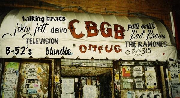 Negli anni '70 il club CBGB & OMFUG, nato per la country music, diventò il locale d'eccellenza della musica punk.