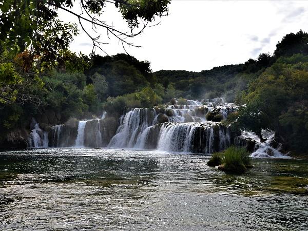 Le cascate del parco di Krka, una delle bellezze naturalistiche della Croazia.