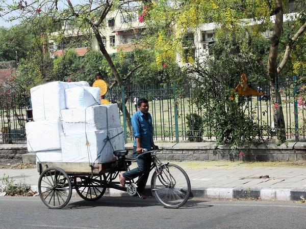 I trasporti in India sono un'arte.