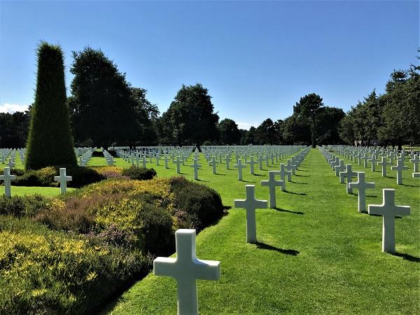 Il cimitero militare di Colleville-sur-Mer, in Normandia.