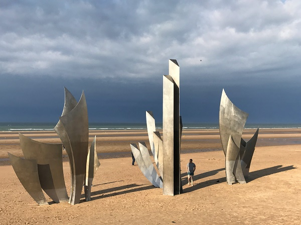 Una delle spiagge simbolo della storia della Normandia: Omaha beach