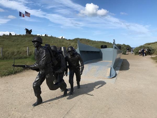 """Utah beach, una delle 5 spiagge della Normandia rinominate in codice in occasione dello """"Sbarco""""."""