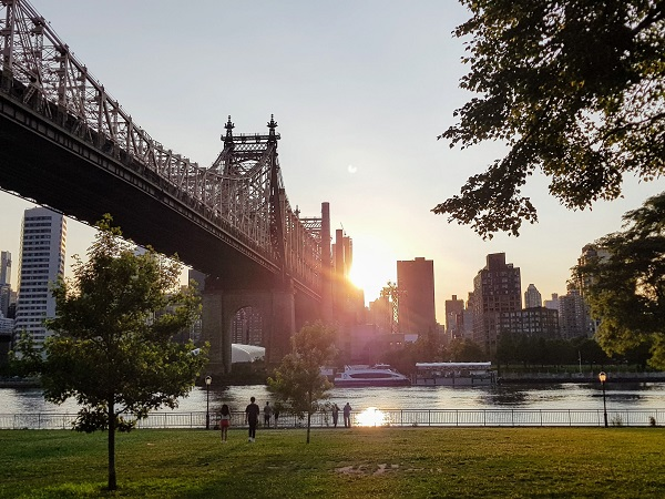 Cercavo una casa molto grande in un quartiere lontano dalla confusione di Manhattan, ed è così che siamo approdati poco oltre il Queensboro Bridge.