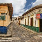 Strada di un villaggio in Guatemala