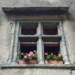 Particolare di un'antica casa di Bard