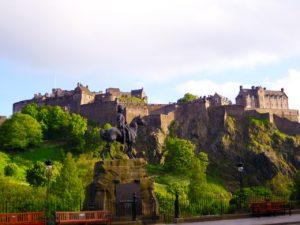 Veduta del castello di Edimburgo