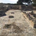 Mosaici nell'area archeologica di Nora