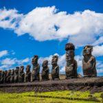 Le tipiche sculture di Rapa Nui (isola di Pasqua)
