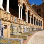 Particolare di piazza di Spagna a Siviglia