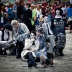 Artisti di strada all'Edinburgh Festival Fringe