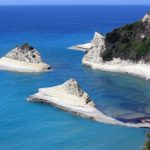 Panorama della costa di Corfù