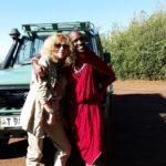 Insieme a un masai