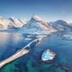 Veduta invernale delle isole Lofoten
