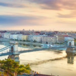 Veduta di Budapest e del Danubio