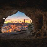 Scorcio di Matera al tramonto