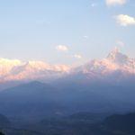 La catena dell'Annapurna all'alba da Sarangkot