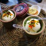 Gelato allo zafferano (l'Iran è il principale produttore mondiale di zafferano)