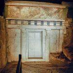Facciata della tomba di Filippo II a Verghina