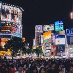 Il trafficato incrocio di Shibuya