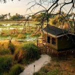 Un campo tendato nel delta dell'Okavango