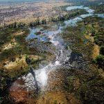 Veduta aerea del delta dell'Okavango