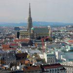 Panorama di Vienna con il duomo di Santo Stefano