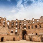 """L'anfiteatro romano di El Jem, utilizzato anche per alcune scene del film """"Il gladiatore"""""""