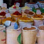 Spezie nel souq di Fez