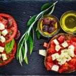 Pomodoro, basilico e olio d'oliva