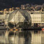 La Sfera di Renzo Piano, nei pressi dell'acquario