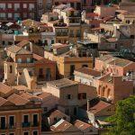 Vista dei tetti della città