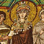 Particolare di un mosaico a Ravenna
