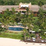 Il complesso dell'Anantara Bazaruto Island Resort dall'alto