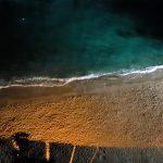 Veduta panoramica di notte dal centro storico di Tropea