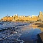 Veduta del centro storico di Termoli dalla spiaggia