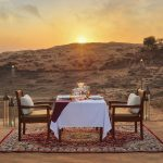Una romantica cena nel deserto