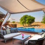 Piscina privata con vista sul deserto