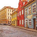Le viuzze dai colori pastello della Città Vecchiadi Riga